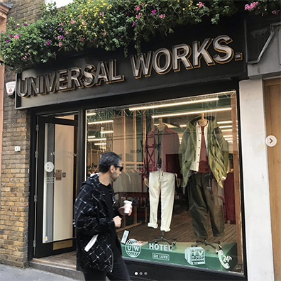 @universal_works new store on Berwick Street